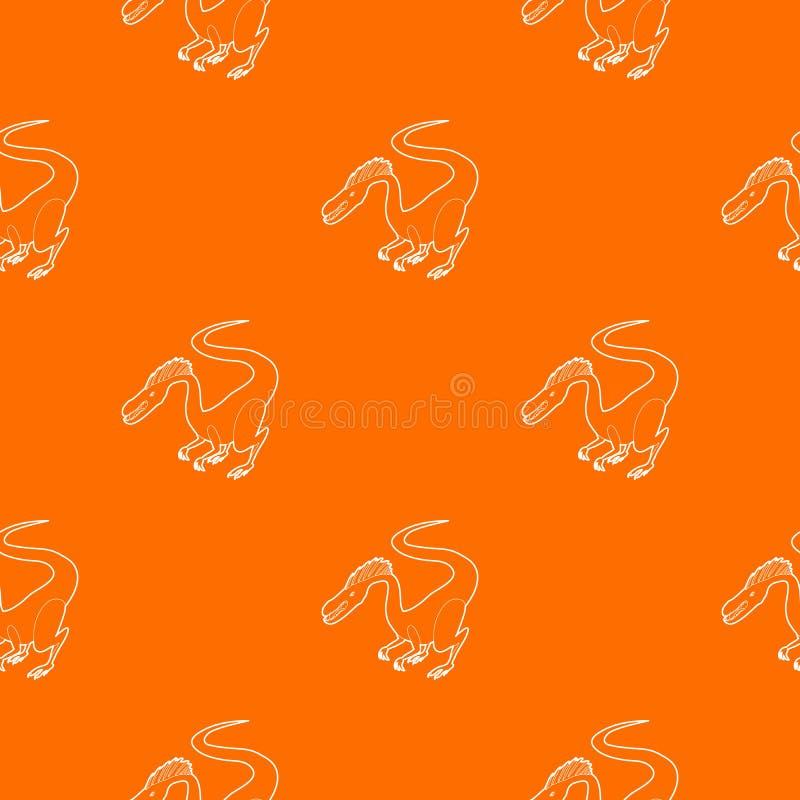 Orange affamée de vecteur de modèle de dinosaure illustration libre de droits