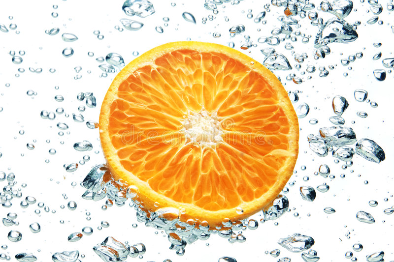 Download Orange and air bubbles stock photo. Image of healthy, tasty - 6297698
