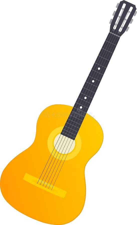 Orange Akustikgitarre stockbilder