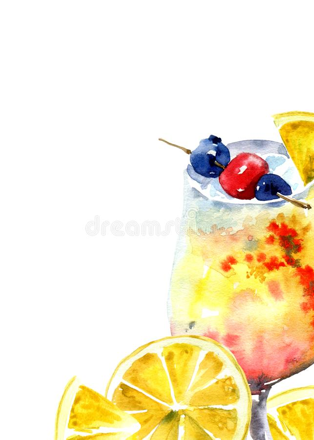 Free Orange And Berries Cocktail Stock Images - 139125624