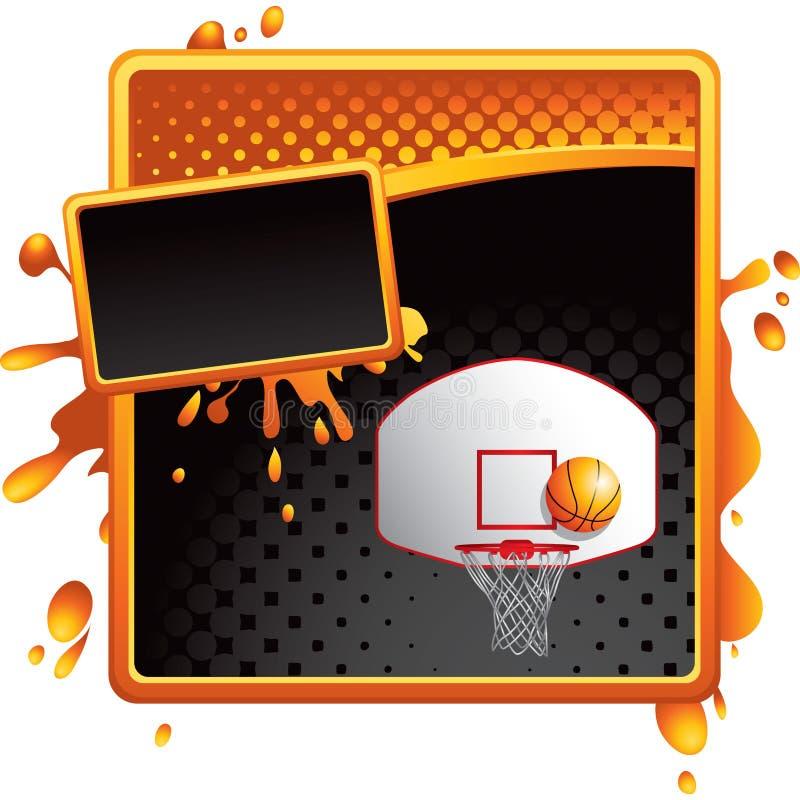 Free Orange And Black Halftone Ad Basketball Goal Royalty Free Stock Photos - 12105998