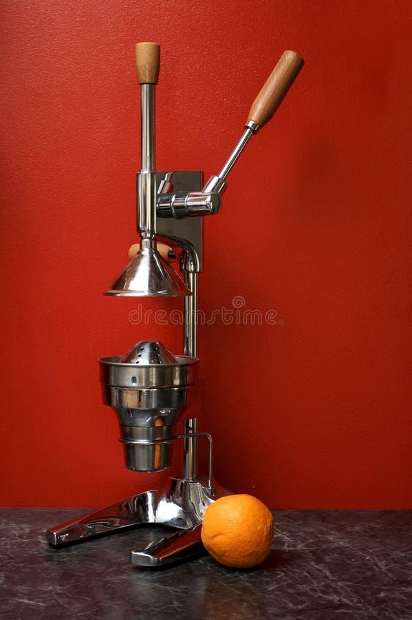 Free Orange And Manual (mechanical) Squezeer Royalty Free Stock Photo - 4788305