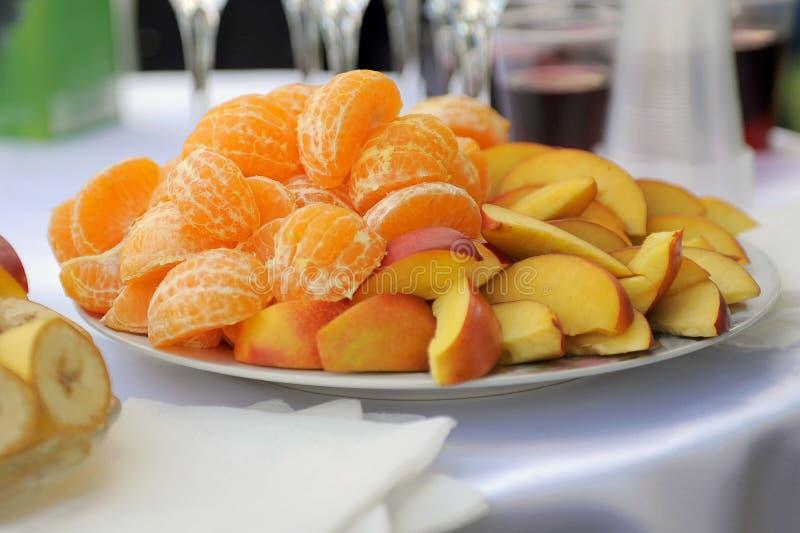 Orange And Apple Stock Photo