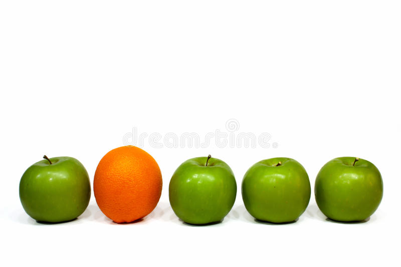 Download Orange and apples stock image. Image of compare, background - 14309315