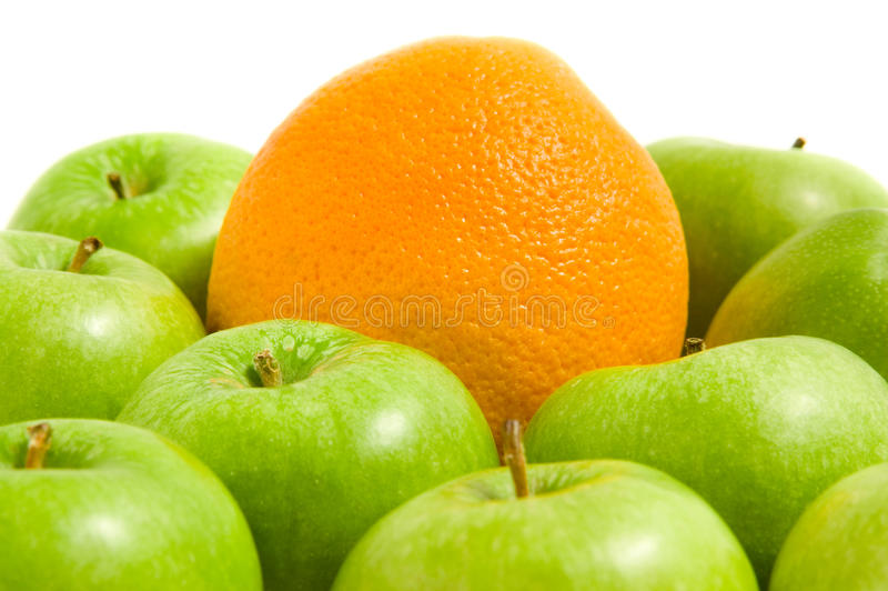 Download Orange and apples stock photo. Image of difference, green - 23253292