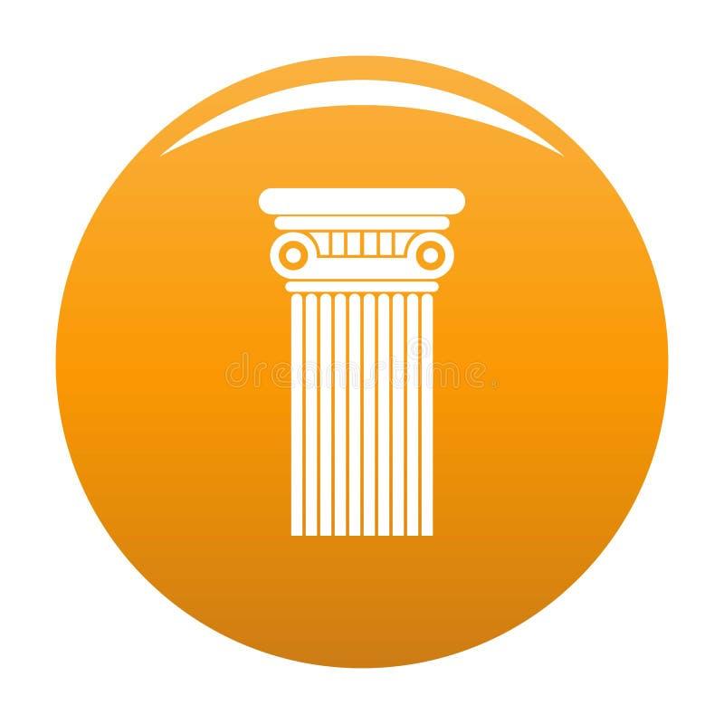 Orange architecturale de vecteur d'icône de colonne illustration de vecteur
