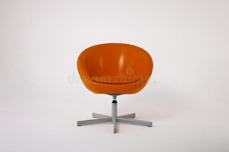 Download Orange Bright Armchair On A White Background Stock Photo   Image  Of Light, Chair