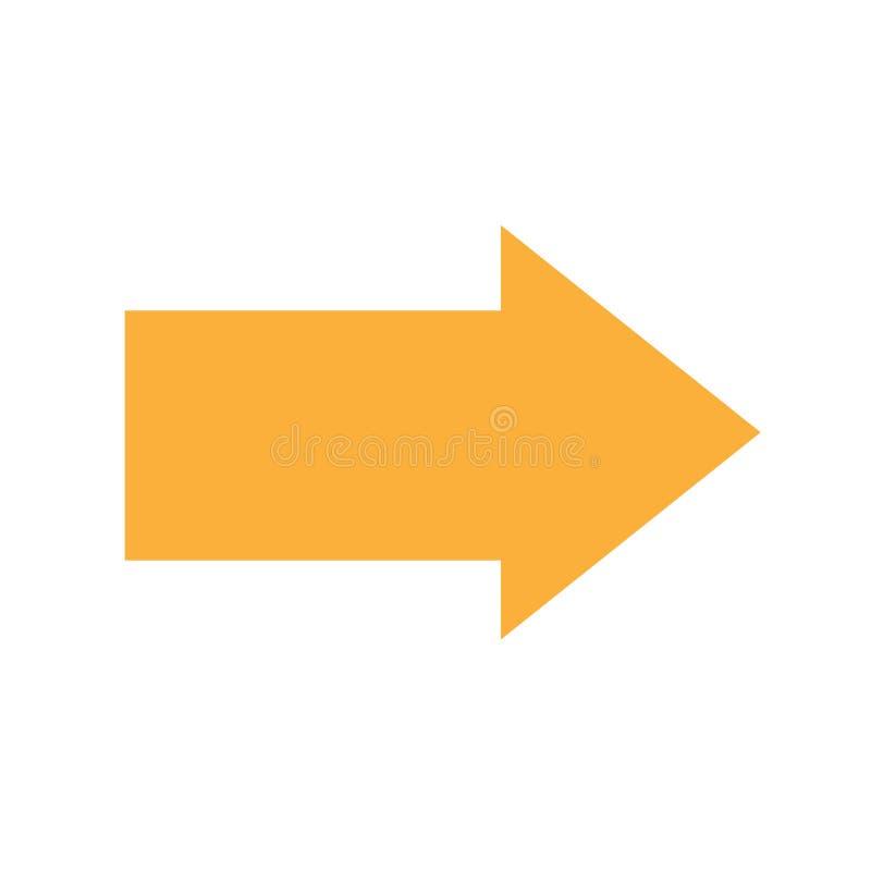 Orange Arrow Basic Simple Shapes Isolated On White Background, Geometric Arrow Icon, 2d Shape Symbol Arrow, Clip Art Geometric Stock Vector - Illustration of geometric, cute: 144602452
