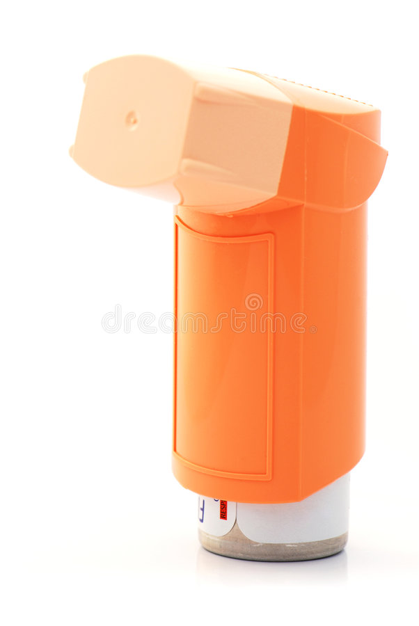 Orange Asthma Inhaler Royalty Free Stock Photos