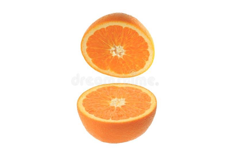 Orange auf dem weißen Hintergrund stockfotos