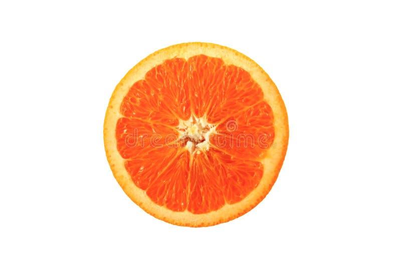 Orange auf dem weißen Hintergrund lizenzfreies stockfoto