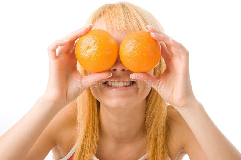 Orange Augen stockbild