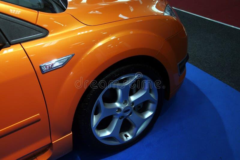 Orange Auto lizenzfreies stockfoto