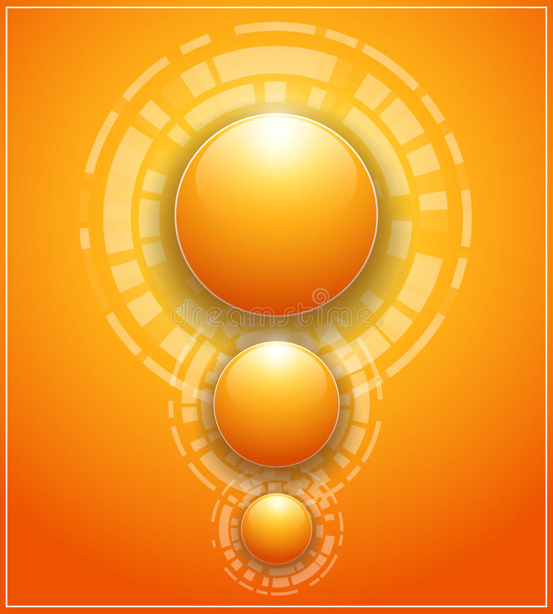 Download Orange background stock vector. Image of shine, stylish - 26243353