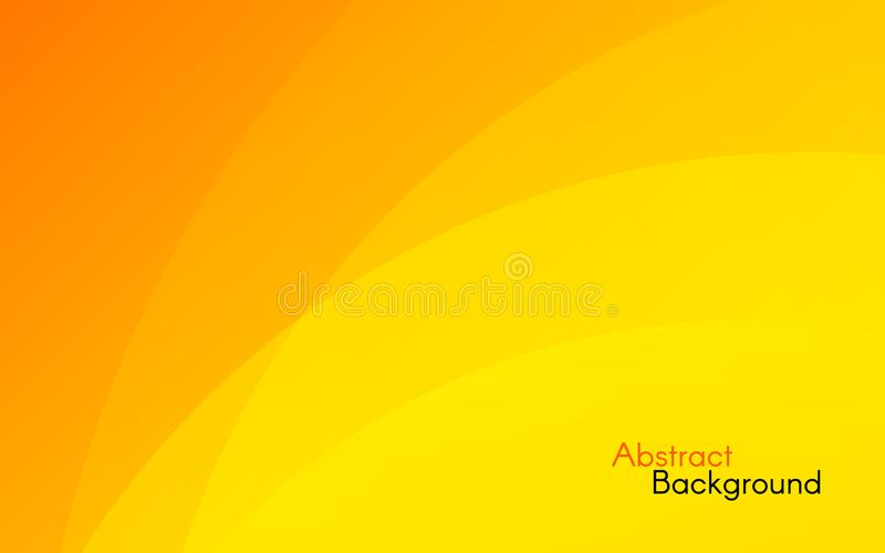 Orange background. Abstract sunny design. Yellow and orange waves. Bright backdrop for banner, poster, web. Vector royalty free illustration