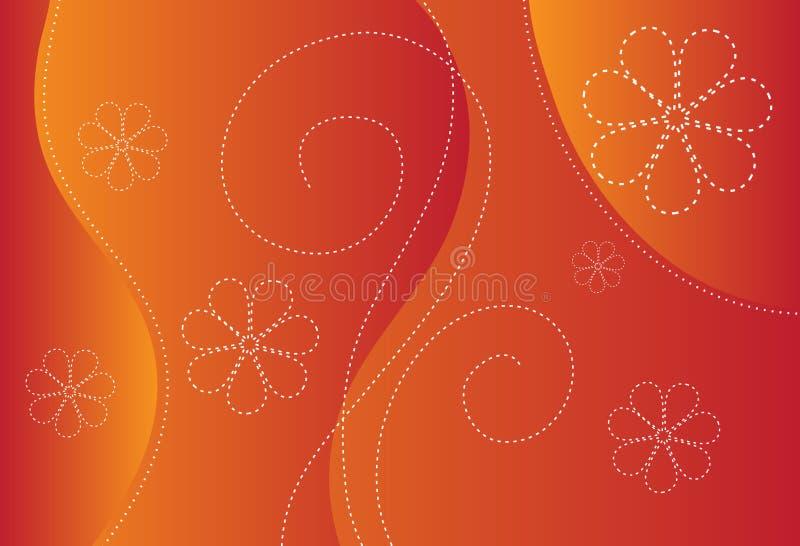 Orange Background Design Stock Photography