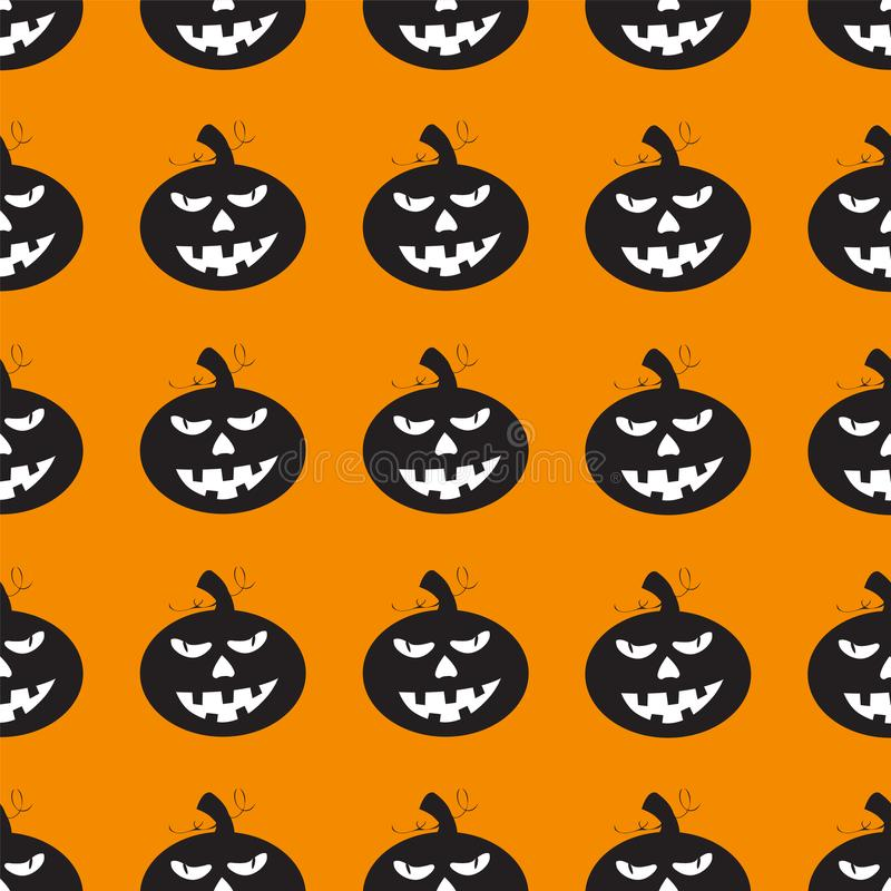 Halloween background with black pumpkins stock illustration
