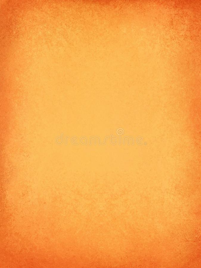 Orange background with solid warm orange and peach colors with red texture border, fall autumn halloween and thanksgiving. Background design to add your own vector illustration