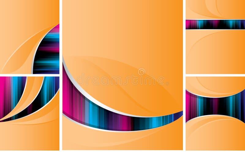 Orange_backgrounds vector illustratie
