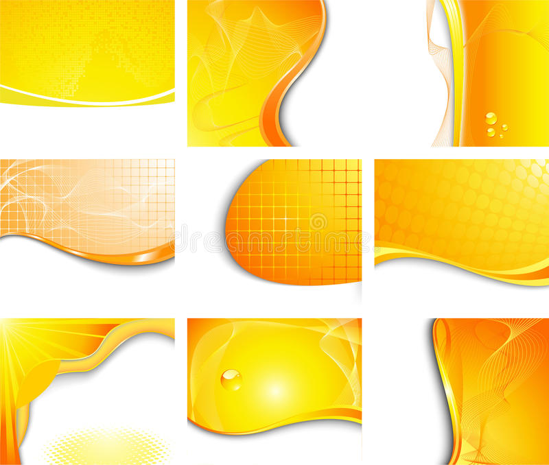 Orange backgrounds collection stock photo
