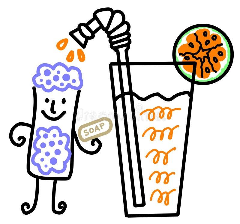 Orange bad royaltyfri illustrationer