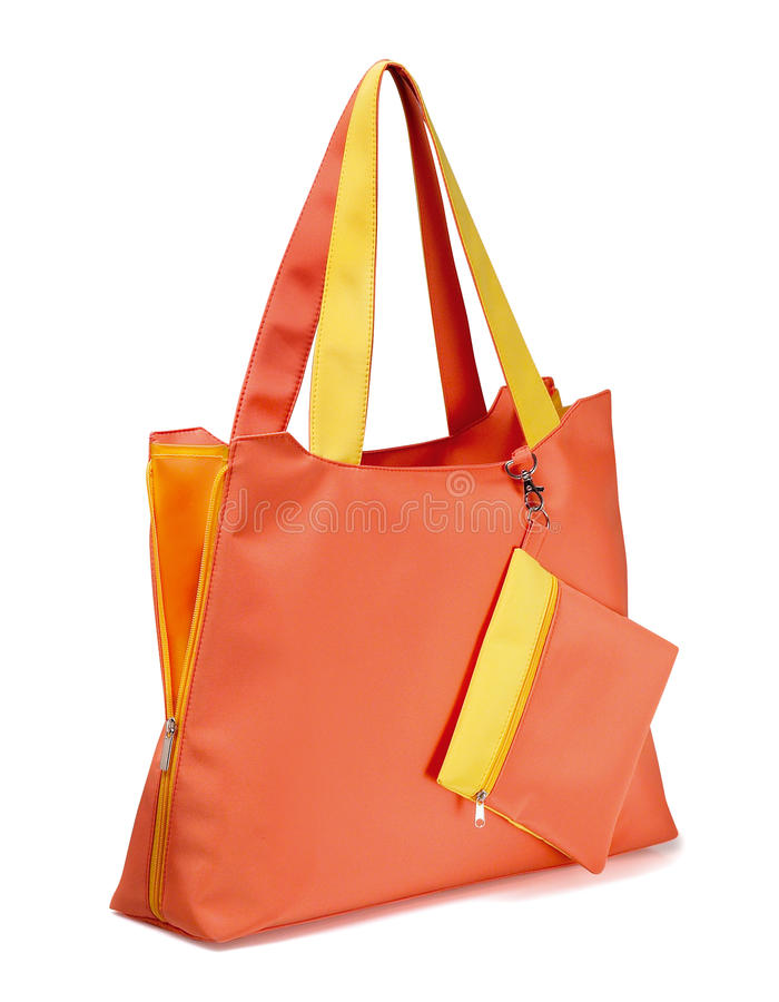 Orange bag stock photos