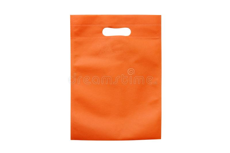 Orange bags, eco cloth bags to reduce global warming, shopping bags, plastic bag, recycling bags, bag for food royalty free stock photo