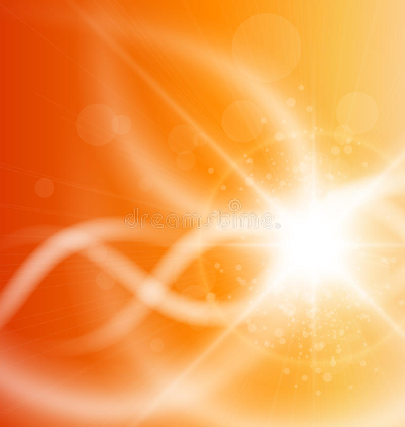 Orange bakgrund vektor illustrationer