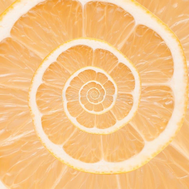 Orange bakgrund för oändlighetsspiralabstrakt begrepp. arkivbild