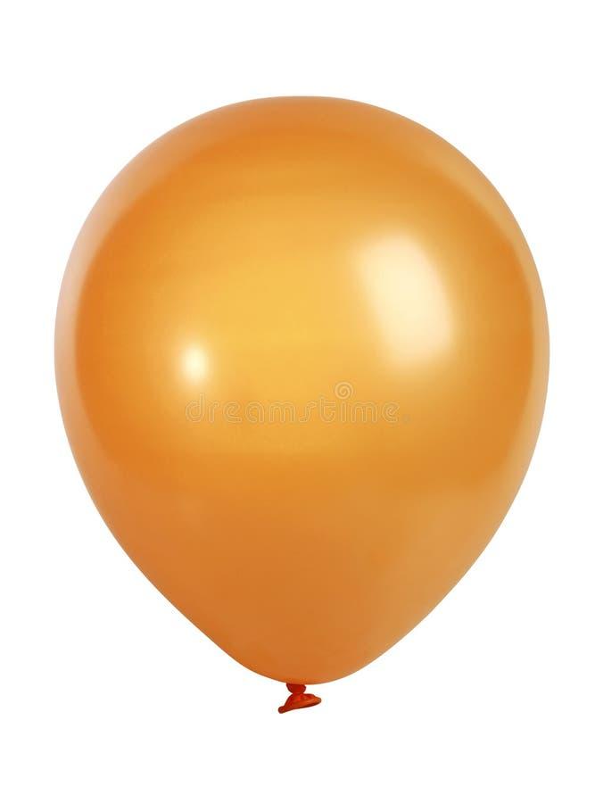 Orange Ballon getrennt auf Weiß stockbilder