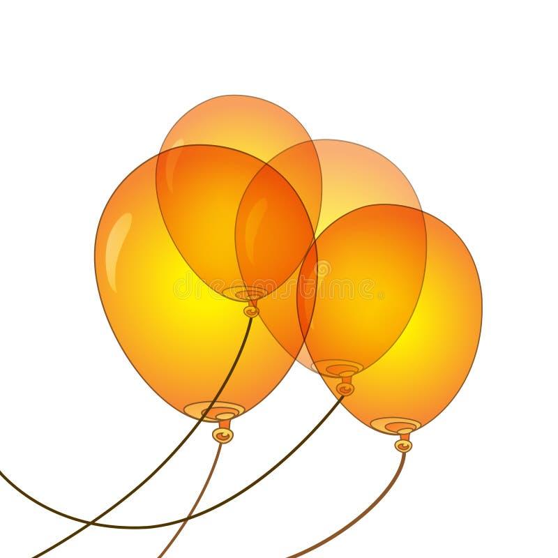 Orange Ballonvektorillustration lizenzfreie stockfotografie