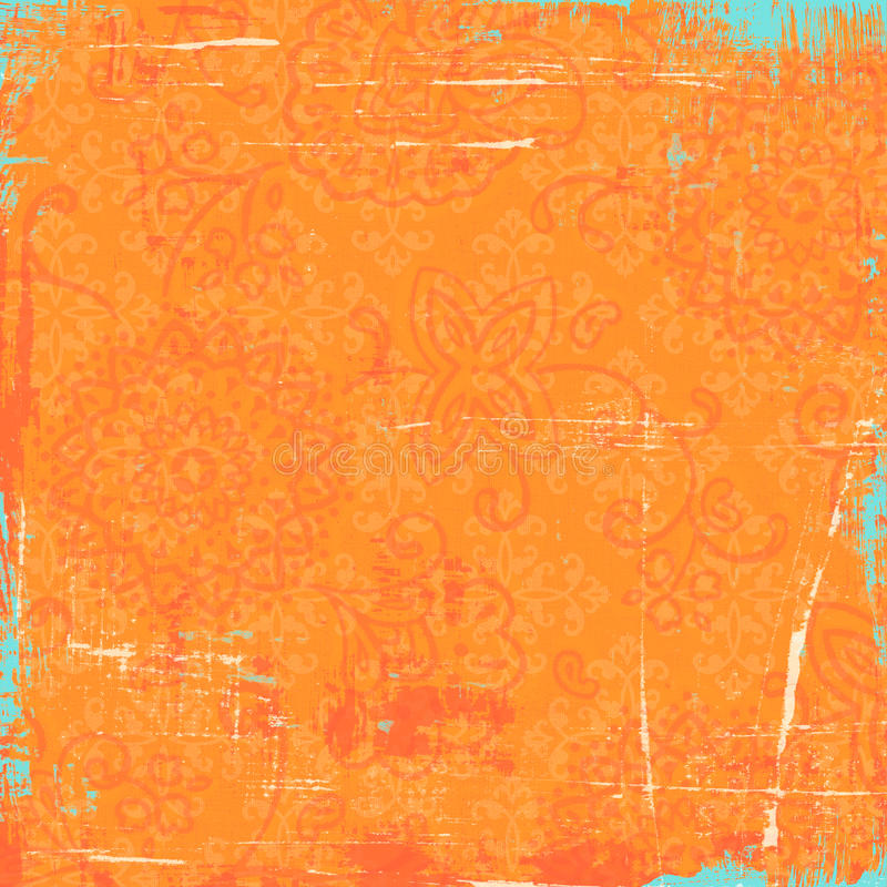 Download Orange Bandana Background stock illustration. Image of turquoise - 29695818