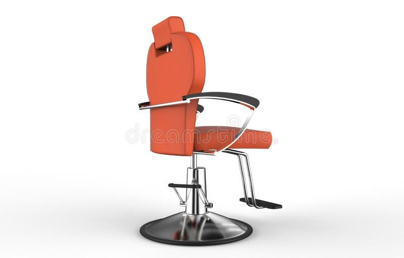 Orange Barber Chair royaltyfri illustrationer