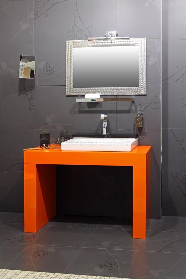 Orange basin stock image