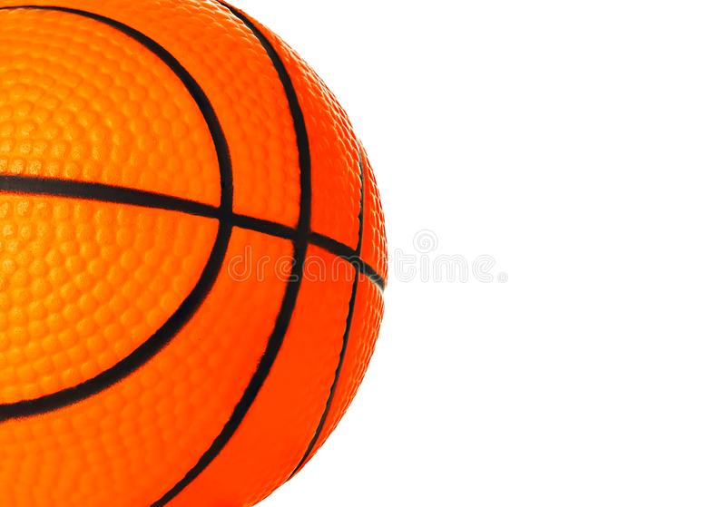 Orange basket ball close-up as a background royalty free stock photo