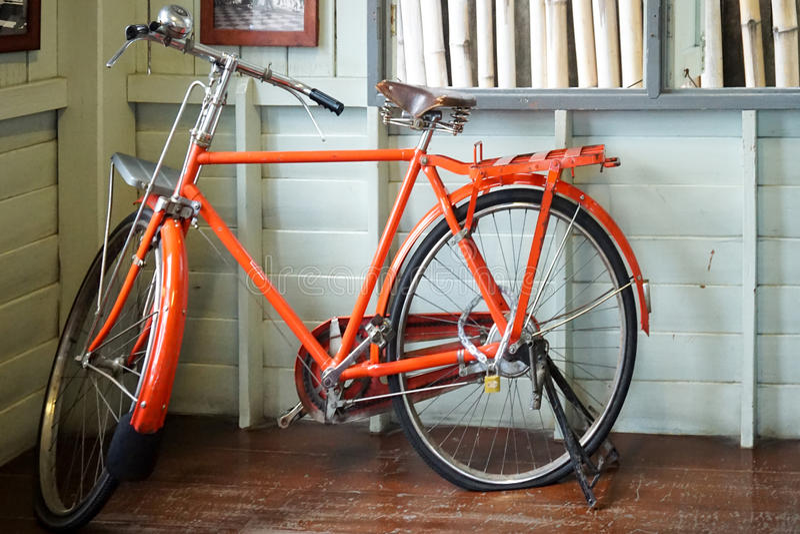 Orange bike stock photos