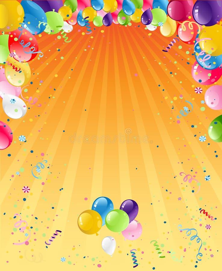orange birthday background stock vector illustration of confetti