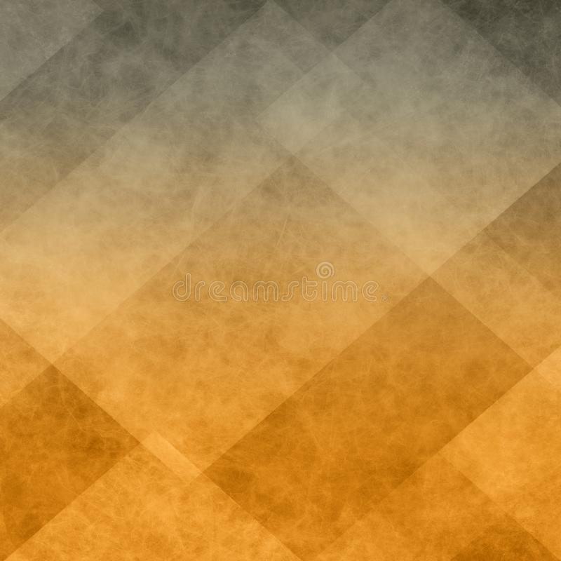 Orange and black background of abstract diamond triangle and block shapes in warm autumn or halloween colors vector illustration