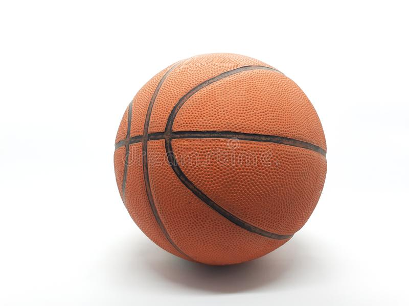Orange and Black Color Basket Ball for Sports in White Isolated Background 01 stock photo