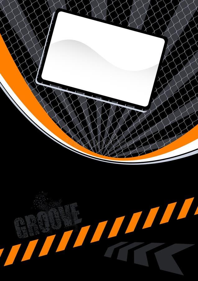 Orange and black layout vector illustration