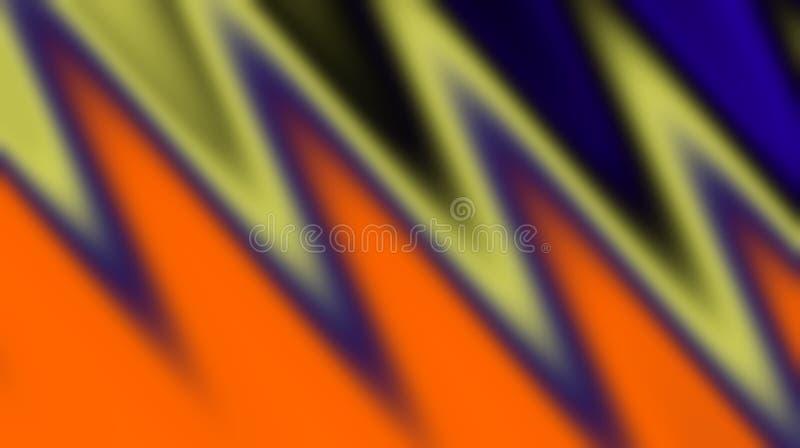 Orange black olive blue colors blurred shaded background wallpaper. Vivd vector illustration. royalty free illustration