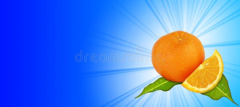 Orange - blauer Hintergrund stock abbildung