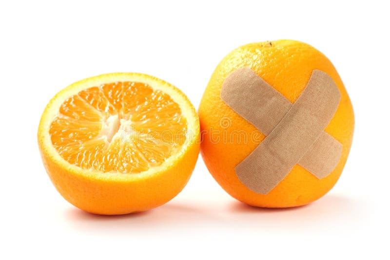 Orange blessée images libres de droits