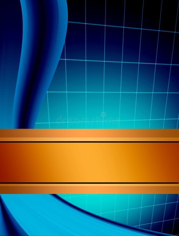 orange bleue illustration stock