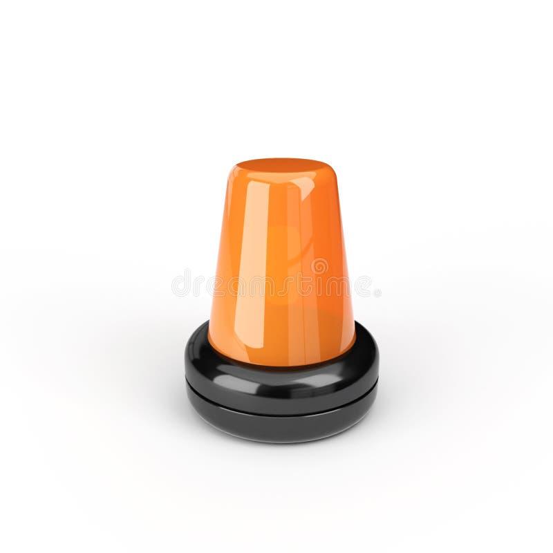 Orange Blinkende Leuchte Stockfotografie