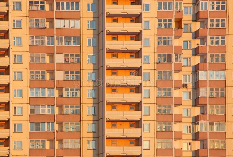 Orange Block der Behausung stockbild