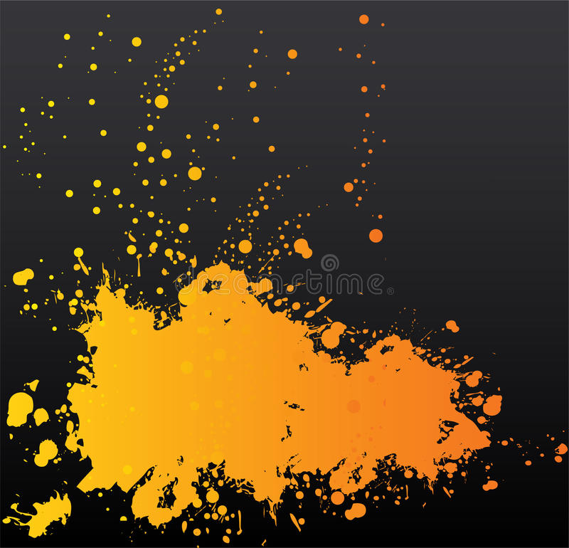 Orange blot on black royalty free illustration