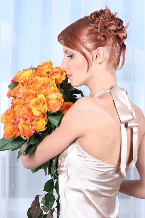 Orange and blue stock photography