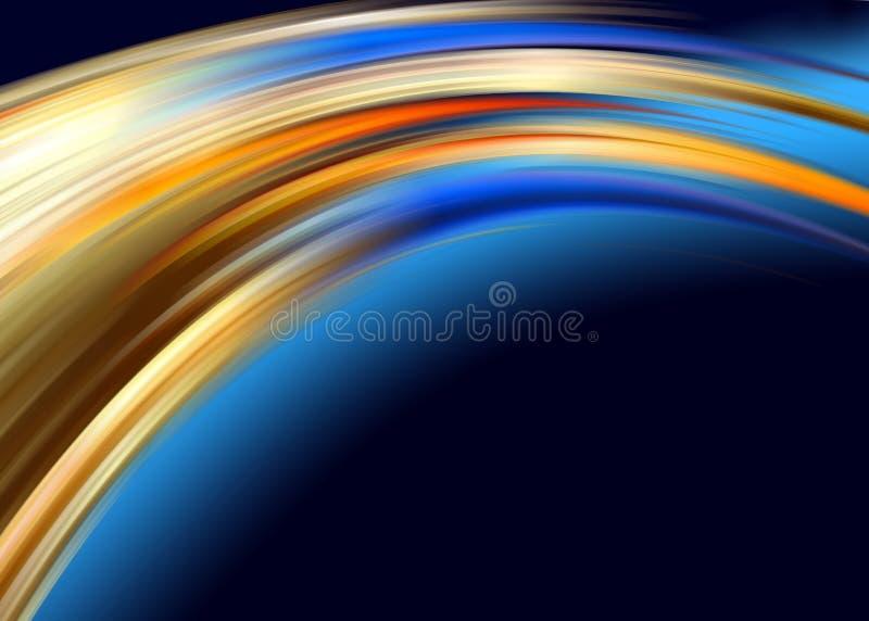 Orange blue abstract royalty free illustration