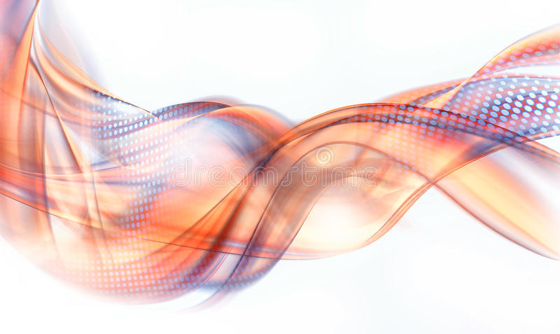 Abstract orange and blue swirl vector illustration